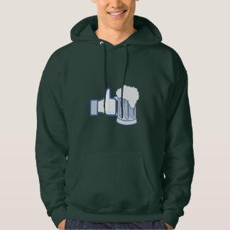Like Beer on St Patrick's Day Hooded Sweatshirts