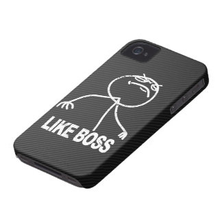 Like Boss meme on Faux Carbon fiber iPhone 4 Covers