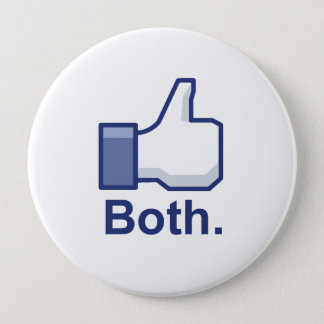 Like Both Pinback Button