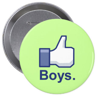 Like Boys Pinback Buttons