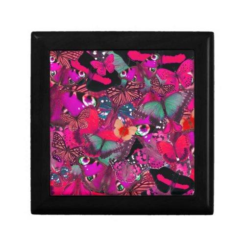 Like Butter, Shocking Pink Butterfly Pattern. PJ Jewelry Box