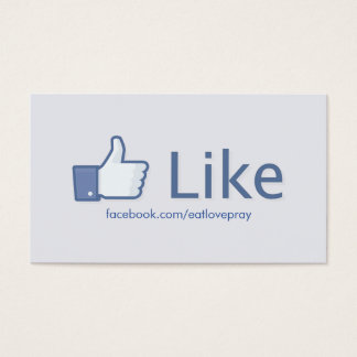 Like Button - Promotional Business Cards
