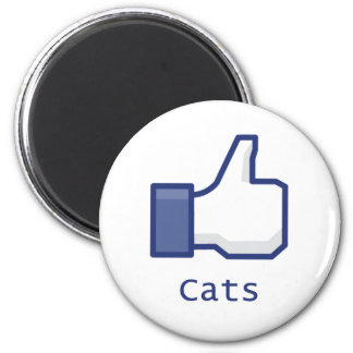 Like Cats 2 Inch Round Magnet