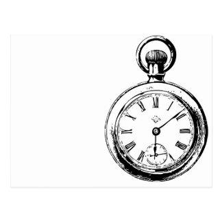 Like Clockwork Pocket Watch Illustration Postcard