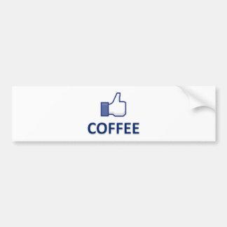 LIKE COFFEE CAR BUMPER STICKER