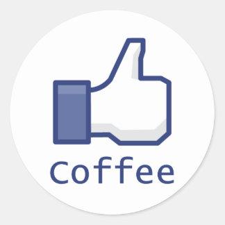 Like Coffee Classic Round Sticker