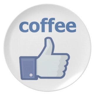 LIKE coffee Melamine Plate