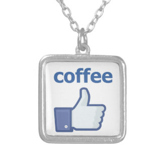 LIKE coffee Silver Plated Necklace