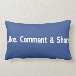 Like,Comment,Share Lumbar Pillow