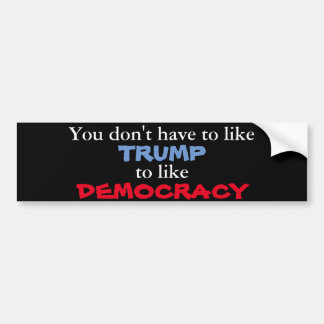 Like Democracy Bumper Sticker