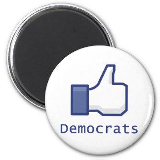 Like Democrats 2 Inch Round Magnet