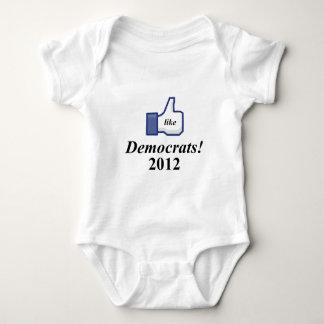 LIKE DEMOCTRATS 2012 BABY BODYSUIT