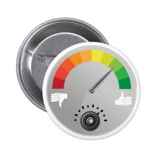 Like Dislike Meter Gauge Icon Pinback Button