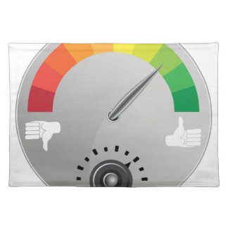 Like Dislike Meter Gauge Icon Placemat
