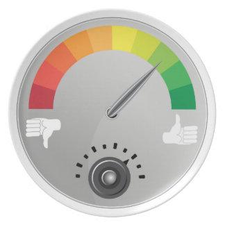 Like Dislike Meter Gauge Icon Plate