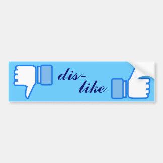 Like Dislike Whatever Design Car Bumper Sticker