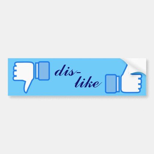 Like Dislike Whatever Design Bumper Sticker