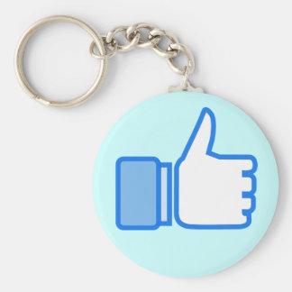 Like Dislike Whatever Design Keychain