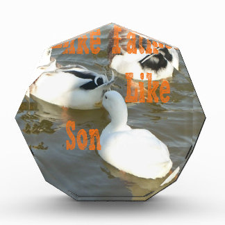 Like Father Like Son. Acrylic Award