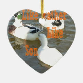 Like Father Like Son. Ceramic Ornament