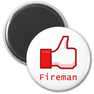 Like Fireman 2 Inch Round Magnet