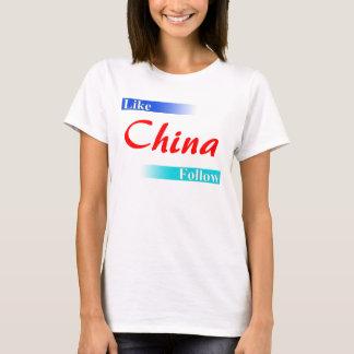 Like & Follow China T-shirt