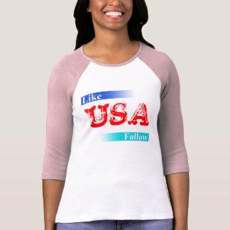 Like & Follow USA T-shirt