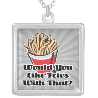 like fries with that square pendant necklace