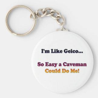 Like Geico... Basic Round Button Keychain