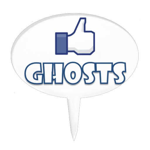 Like Ghosts Cake Topper