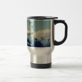 Like-guessed/advised summer meadow with clouds ski 15 oz stainless steel travel mug