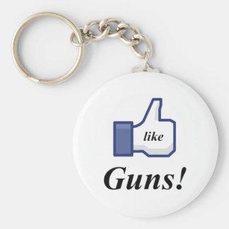 LIKE GUNS! BASIC ROUND BUTTON KEYCHAIN