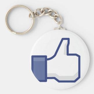 Like Hand Basic Round Button Keychain