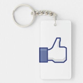 Like Hand - FB Thumbs Up Single-Sided Rectangular Acrylic Keychain