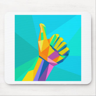 Like hand sign geometrical style mouse pad