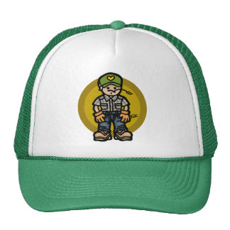 like husk on corn. trucker hat
