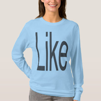 Like in Choc ltblu lngslv wmn frntonly LIMITED 09 T-Shirt