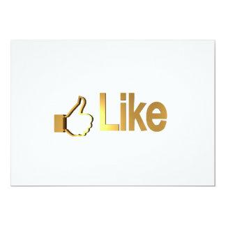 Like in Gold Mug 5x7 Paper Invitation Card