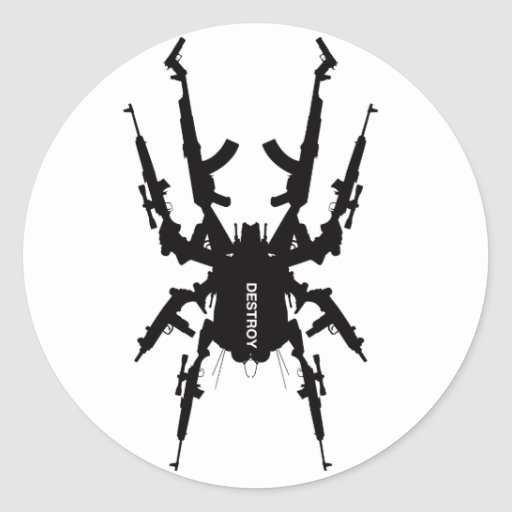 Like Insects 1  Round Stickers