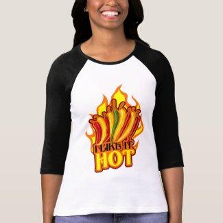 Like It Hot $23.95 Womens Raglan shirt