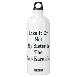 Like It Or Not My Sister Is The Best Karateka SIGG Traveler 1.0L Water Bottle