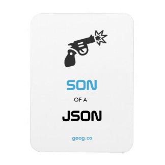 Like JSON, only Smaller. Rectangular Photo Magnet