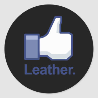 Like Leather Classic Round Sticker