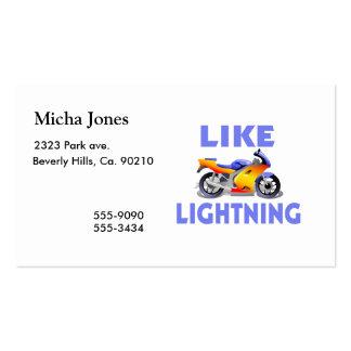 Like Lightining Street Bike Double-Sided Standard Business Cards (Pack Of 100)
