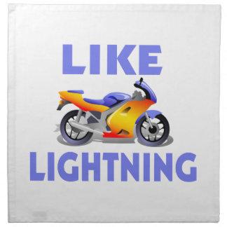 Like Lightining Street Bike Cloth Napkin