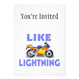 Like Lightining Street Bike Card