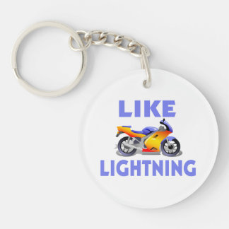 Like Lightining Street Bike Keychain