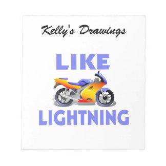 Like Lightining Street Bike Memo Pads