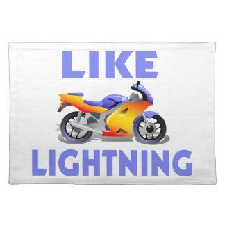 Like Lightining Street Bike Place Mat
