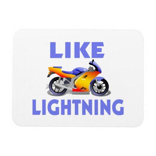 Like Lightining Street Bike Rectangular Photo Magnet